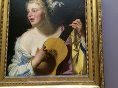 lady with Mandolin Louvre, 17th Century, Mona Lisa, Images, Mandolin, Artwork, Painting, Lady, Playing Guitar