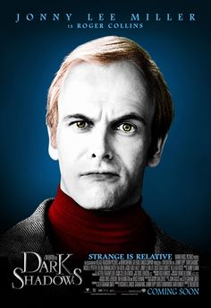 Jonny Lee Miller in a poster of Dark Shadows by Tim Burton Jonny Lee Miller, Film Tim Burton, Tim Burton Characters, Cartoon Characters, Johnny Depp, Alice Cooper, Dark Shadows Movie, Jeter Un Sort, Poster A3