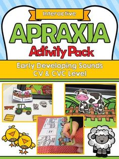 This Interactive Apraxia Activities packet is a creative and engaging way to elicit multiple repetitions of targets with children with apraxia or severe articulation needs who are working at CV / VC / CVC level in a Farm Theme. Speech Therapy Activities, Speech Language Pathology, Language Activities, Speech And Language, Childhood Apraxia Of Speech, Articulation Therapy, Farm Theme, Therapy Ideas, Special Education