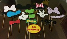 Mickey Mouse Clubhouse Photo Booth Props by Cre8iveDesignss