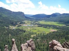 The continental divide at Wolf Creek Pass, Colorado in July 2010.  Photo by Hannah Spaar.