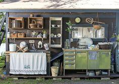 Bilderesultat for kesäkeittiö Patio Pergola, Balcony Flowers, Summer Kitchen, Connecticut, Liquor Cabinet, Inspiration, Furniture, Home Decor, Cottage Ideas