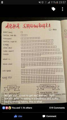 IMAGE only Journal debt tracker bullet journal
