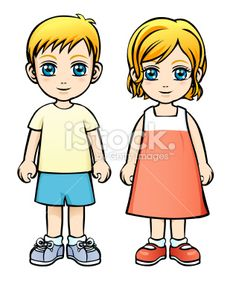 Caucasian Boy and Girl Royalty Free Stock Vector Art Illustration Senses Activities, Preschool Learning Activities, Preschool Printables, Preschool Worksheets, Sunday School Coloring Pages, Coloring Pages For Girls, Drawing School, Drawing For Kids, Lesson Plans For Toddlers