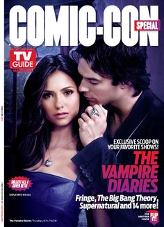 Elena and Damon on TV Guide Comic-Con 2012 Cover