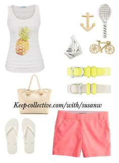 """Summer fun"" by susan-wilkinson-1 ❤ liked on Polyvore featuring J.Crew, maurices, Havaianas and Bop Basics"