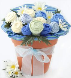 Nikki's Baby Blossom Clothing Bouquet Gift-Boy