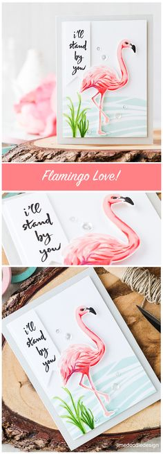Who doesn't love flamingos?! The Hero Arts flamingo makes a stunning focal point for this card. Find out more by clicking on the following link: http://limedoodledesign.com/2016/06/who-doesnt-love-flamingos/ More
