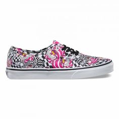 Vans Disney Authentic Shoes (Disney) Cheshire Cat/black - Vans UK Official Online Store