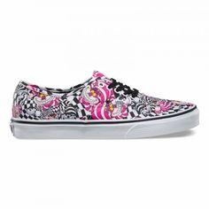 Vans Disney Authentic Shoes (Disney) Cheshire Cat/black - Vans UK Official Online Store