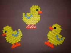 Easter chicks hama perler beads