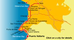 Rivieria Nayarit map