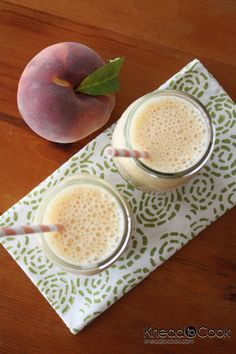 Fresh Peach Chobani Protein Smoothie from Knead to Cook