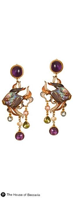 ~Diego Percossi Papi Black Pearl Earrings | The House of Beccaria