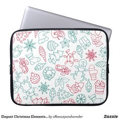 Choose from a variety of Elegant laptop sleeves or make your own! Shop now for custom laptop sleeves & more! Elegant Christmas, Christmas Fun, Custom Laptop, Personalized Products, Laptop Sleeves, Create Your Own, Pattern, Gifts, Design