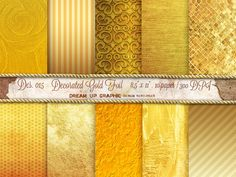 GOLD Digital Paper: Gold Paper GOLD TEXTURES by DreamUpGraphic