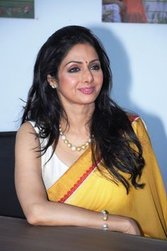Sridevi does her best impersonation of a juicy Alphonso.