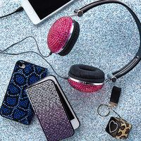 There is no such thing as too much bling and we have all of your essential electronics covered! If you like to sparkle and shine with glamorous glitter, radiant rhinestones or sensational sequins, you are sure to find a cellphone case or pair of headphones that will you catch your eye the same way they catch the light. So show off your supreme style while staying tech-savvy!