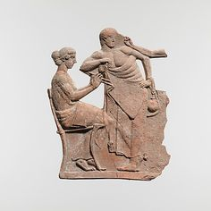 Terracotta relief Greek ca 450 BC or later