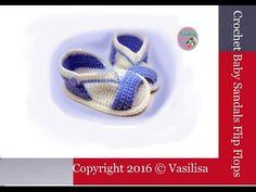 DIY baby booties sandals //Vasilisa - YouTube