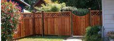 Cedar Fence and Gate