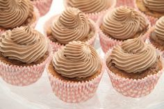My Little Kitchen: Nutella cupcakes med nutella frosting
