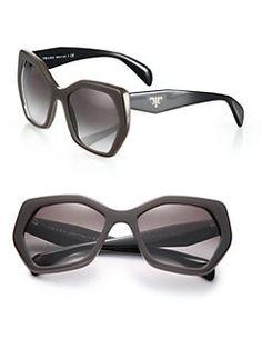 Prada - Angular 56MM Pentagonal Sunglasses