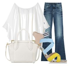 """""""Denim Chic"""" by stylebycandita ❤ liked on Polyvore featuring 7 For All Mankind, MSGM and Foley + Corinna"""