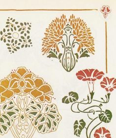 Art Nouveau Colour Stencil/@Tracy Stewart Stewart Stewart Pillarinos.#Art Nouveau Design#