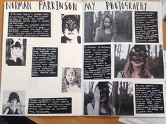 Example of a visual research page from AS Photography