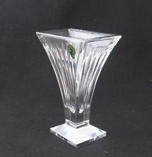 WATERFORD CRYSTAL CLARION SIX INCH VASE ART DECO mint new