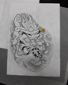 Japanese Tattoo Art, Japanese Tattoo Designs, Japanese Design, Japanese Art, Daruma Doll Tattoo, Hannya Mask Tattoo, Johnny Tran, Asian Tattoos, Japan Tattoo