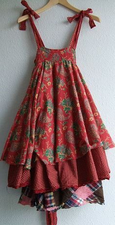 Sundresses in boho style. Discussion on LiveInternet - Russian Service Online Diaries Hippie Stil, Mori Fashion, Mode Boho, Altered Couture, Mori Girl, Mode Outfits, Diy Clothing, Refashion, Beautiful Outfits