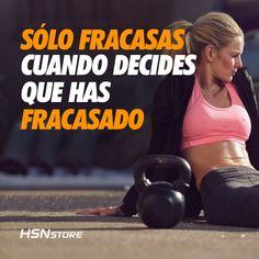 Sólo fracasas cuando decides que has fracasado #fitness #motivation #girl…
