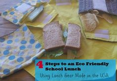 Four steps to an Eco friendly school lunch, using lunch gear #madeinUSA