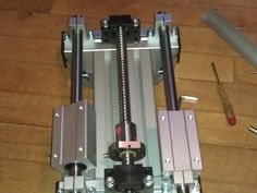 Designed this after having made a couple of CNC routers with moving gantry. It is also my first design with aluminium profile. Routeur Cnc, Diy Cnc Router, Cnc Lathe, Cnc Woodworking, Machine Tools, Cnc Machine, Plasma Cutter Art, Router Lift, Cnc Plasma Table