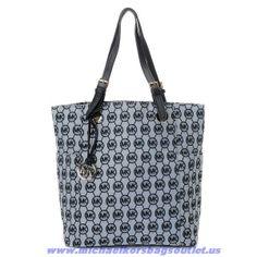 e823e030de Authentic Michael Kors Large Blue Grayson Canvas Should Bag Michael Kors  Bags Outlet