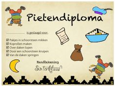 Pietendiploma | Thema SINTERKLAAS Yoga For Kids, Diy For Kids, Crafts For Kids, After School Care, National Holidays, Saint Nicholas, Pre School, Preschool Activities, Kids Playing