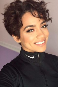 Sassy Short Curly Hairstyles for Women ★ See more: http://lovehairstyles.com/sassy-short-curly-hairstyles-women/
