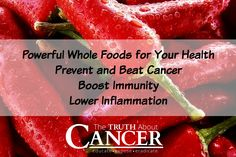 The food you eat makes a huge difference in preventing cancer, beating cancer, and making sure it doesn't come back. This list of excellent cancer-fighting foods is a great place to start: Cruciferous Vegetables / Curcumin (turmeric) / Mushrooms / Garlic  / Flax / Hot Peppers / Dark Leafy Green / Vegetables / Dark Seeded Grapes / Brown Seaweed /// Join us for more amazing info on The Truth About Cancer!