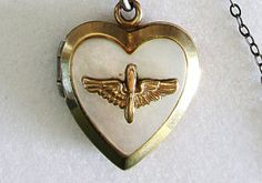 Vintage U S Army Air Corps Sweetheart Locket by COBAYLEY on Etsy