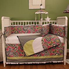 Rosenberry Rooms has everything imaginable for your child's room! Share the news and get $20 Off  your purchase! (*Minimum purchase required.) Pink Whimsy Crib Bedding Set