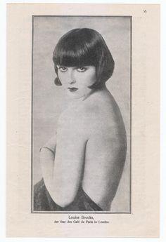 Louise Brooks 1924 German magazine rare images Cafe de Paris in London Louise Brooks, Hollywood Icons, Golden Age Of Hollywood, Classic Hollywood, Rare Images, Vintage Images, Divas, Ziegfeld Girls, Silent Film Stars