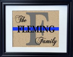 Proud to support our Law Enforcement. We cannot thank our law enforcement and their families enough for their service to our country. This print is a wonderful and unique way to honor them! HOW TO ORDER 1) Leave the Last Name in the note to seller section • • • • • • • • • • • • • • • • • • • • • • • • • • • • • • • • • • • • • • • • FAST PRODUCTION TIME (1-3 BUSINESS DAYS!) WITH INSURED USPS SHIPPING WITH FREE TRACKING! PRINT DETAILS: We use 100% jute burlap with a laminated backing to…