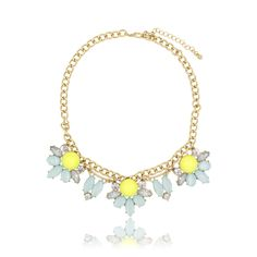"""Clo Clo London - Kaitlyn. French court style necklace withl faux stones Length: 40cm (15.7"""") - 48cm (18.9"""")"""