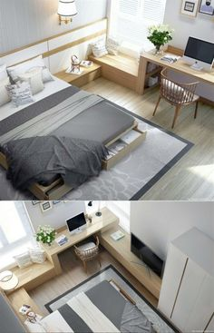 under bed drawers provide ample storage in the modern bedroom