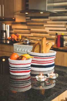 Virkade korgar #knittingroom #garn #hemmet #inspiration #kreativ