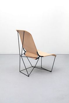 Leather geometric and abstract minimalist chair via Maxmis.   Join and get your exclusive subscription of elevated essentials for design enthusiasts @ minimalism.co