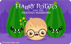 Harry Potato and the Deathly Marrows - Cute jokes with Kawaii Fruit and Vegetable cartoons Fruit Cartoon, Cartoon Pics, Harry Potter Hermione, Harry Potter Love, Funny Vegetables, Veggies, Vegetable Cartoon, Kawaii Fruit, Kawaii Potato