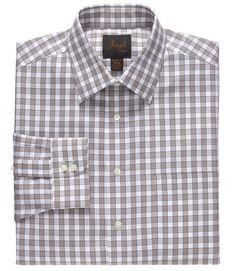 Impartial Classic Fit Blue Herringbone Plaid French Cuff Cotton Dress Shirt Shirts Men's Clothing